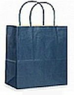 Navy Blue Shopping Bag