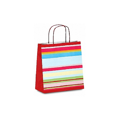 Paper Shopping Bags - Horizontal Lines