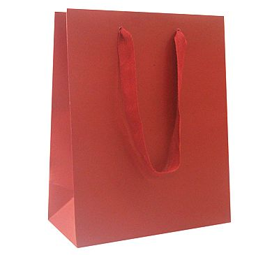 Paper Bags With Twill Handles - Red