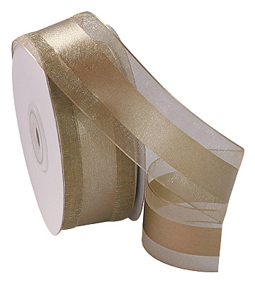 Organza Satin Edge Ribbon - Gold