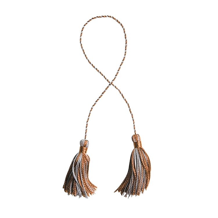 Tassels - Brown-Silver