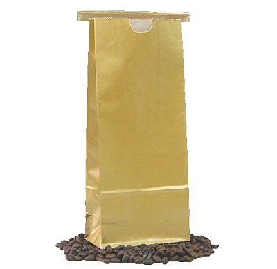 Tin Tie Paper Bags - Gold