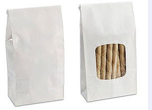 Clear Window - Tin Tie Paper Bags