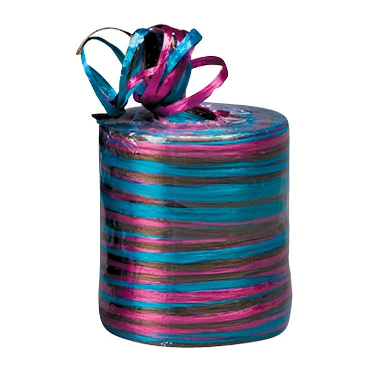 Matt Twisted Raffia Ribbon - Aqua-Chocolate-Beauty