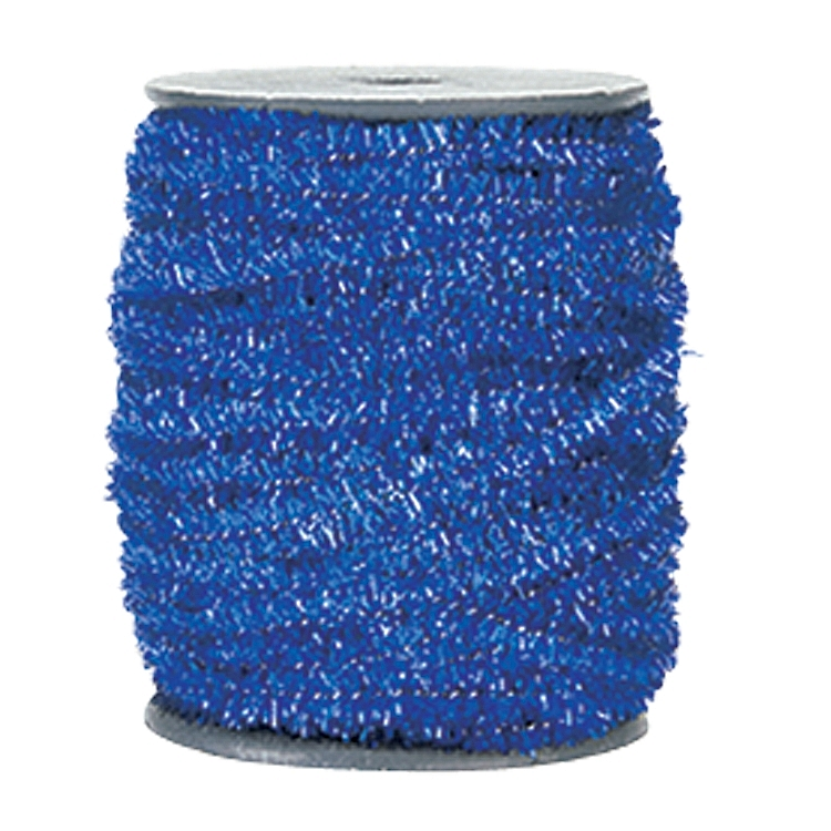 Wired Metallic Glitter Satin Ribbon - Blue