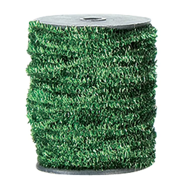 Wired Metallic Glitter Satin Ribbon - Green
