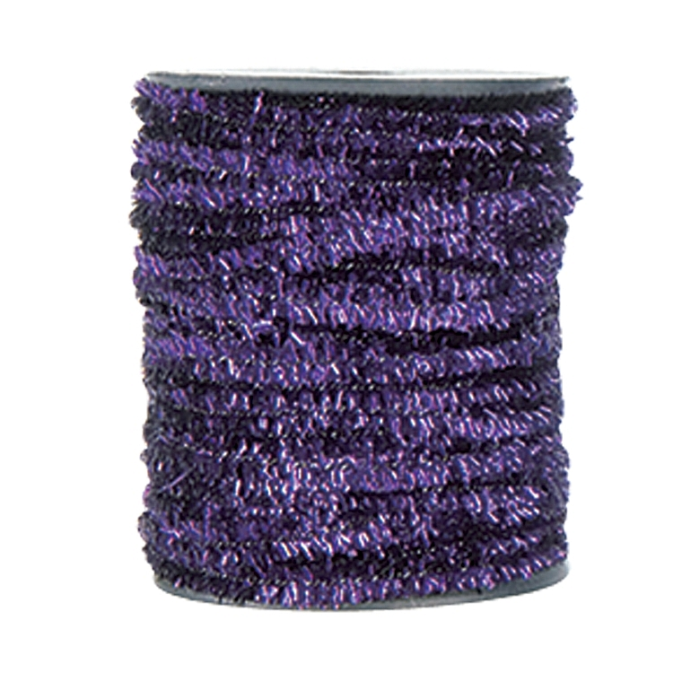 Wired Metallic Glitter Satin Ribbon - Purple