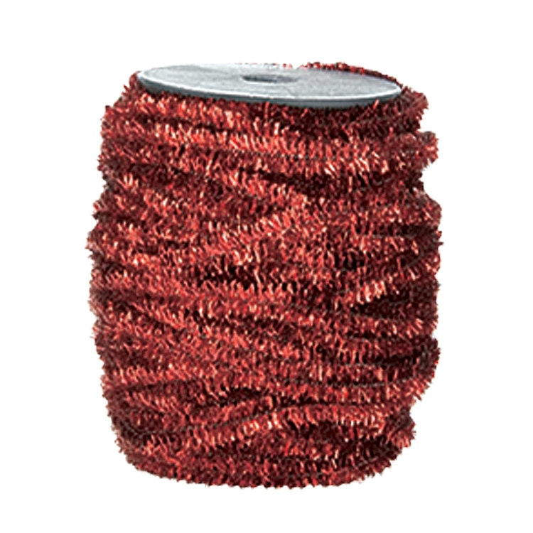 Wired Metallic Glitter Satin Ribbon - Red