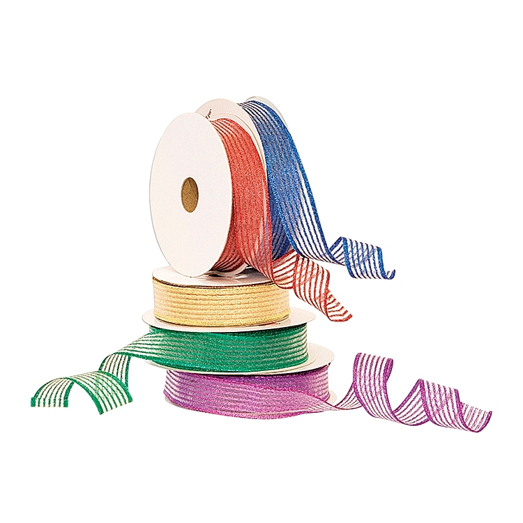 Wired Metallic Ribbon - Stripes