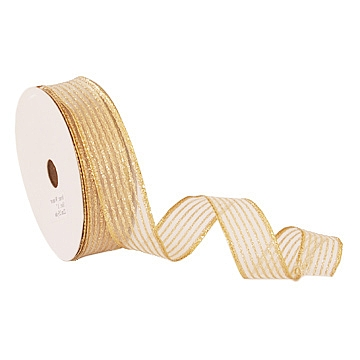 Wired Metallic Ribbon - Solid - Gold