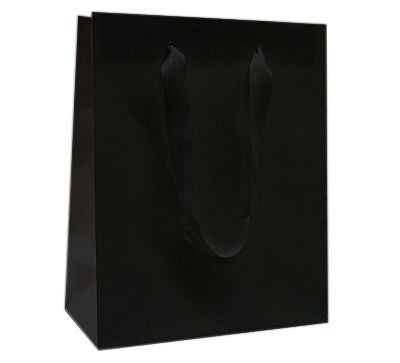 Paper Bags With Twill Handles - Black