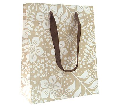Paper Bags With Twill Handles - Leaves