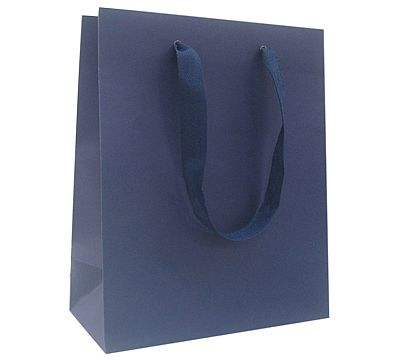 Paper Bags With Twill Handles - Navy Blue