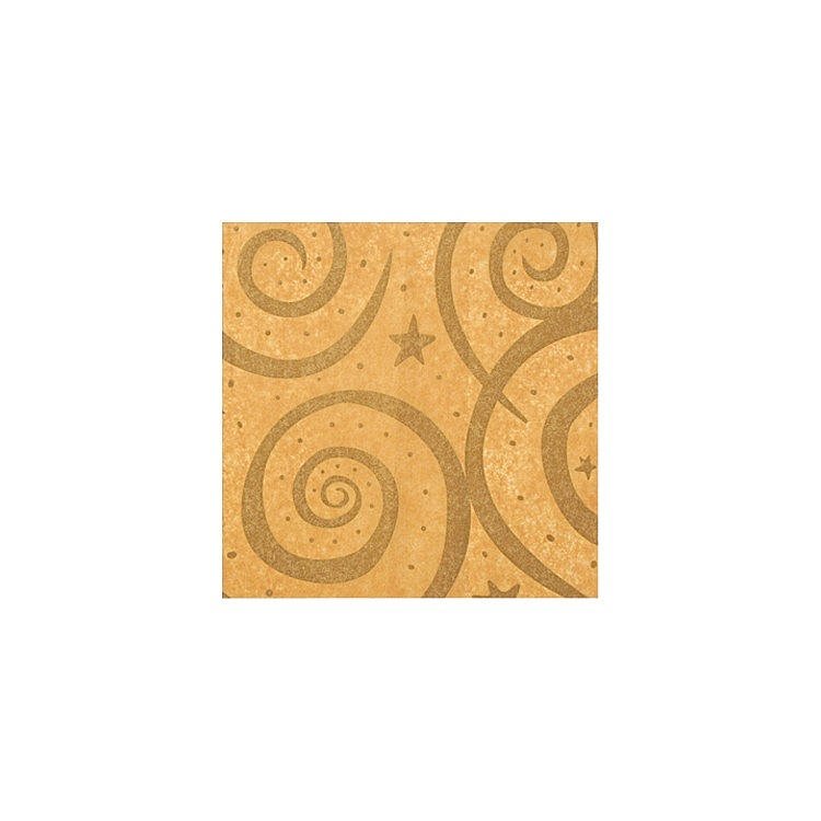 Gold Swirls On Kraft