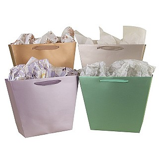 Bright Trapezoid Paper Bags
