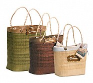 Palm Tree Bags with Jute Handles