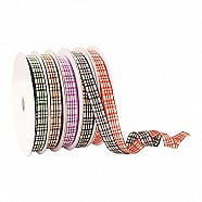 Wired Ribbon - Plaid - Brown