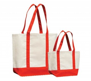 Loop Handle Canvas bags with Colour
