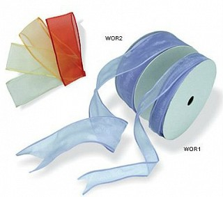 Wired Organza Ribbon - Solid Colour