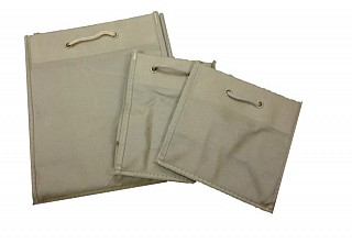 Rope Handle Non Woven Bags - Dark Brown