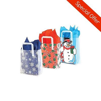 Shopping Bags 4u Plastic Bags Printed Christmas