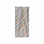 Cellophane Bags Designs - Aqua and Brown Stripes