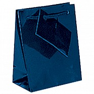 Gloss Paper Shopping Bags - Navy Blue