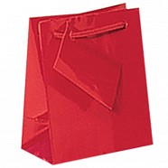 Gloss Paper Shopping Bags - Red