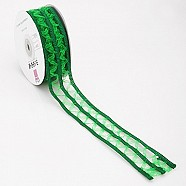 Wired Lace Ribbon - Green