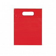 Solid Colour Plastic Bag - Red