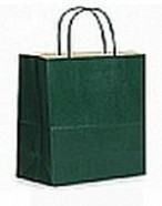 Colour Tone on White Shopping Bags - Forest Green