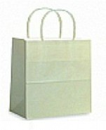 Colour Tone on White Shopping Bags - Ivory