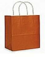Colour Tone on White Shopping Bags - Mango