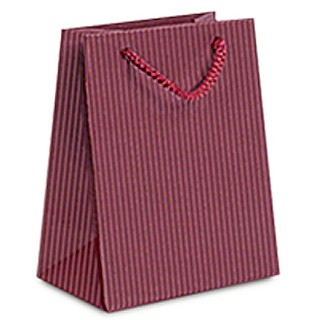 Paper Bags with Embossed Ribbed Finish